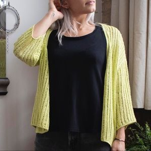 Stretchy Lime Green Cardigan